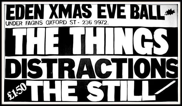 Poster for The Things at Rafters,  under Fafins.